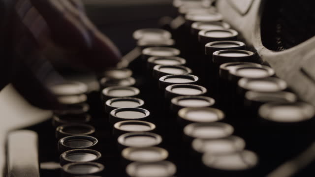 ld typing by pressing the keys of typewriter in hurry - typewriter stock videos & royalty-free footage