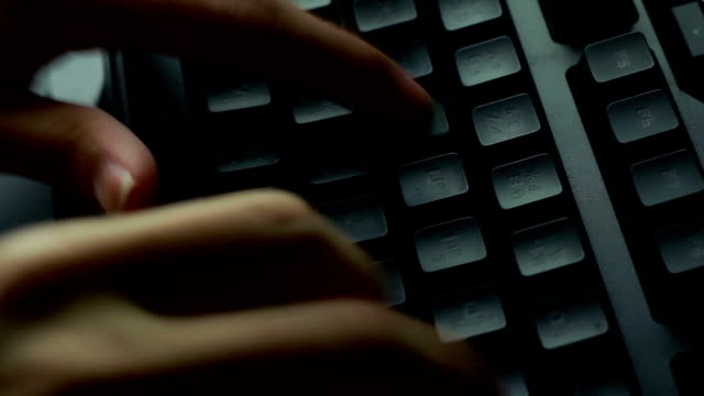 typing fingers push keyboard - computer keyboard stock videos and b-roll footage