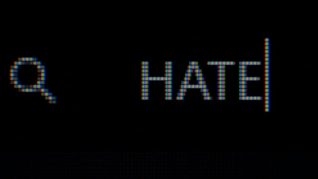 typing hate word on adress bar of a web browser - web browser stock videos & royalty-free footage