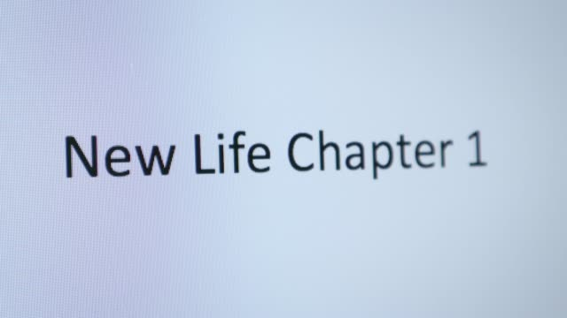 """typing """"new life chapter 1"""" on the computer - opportunity stock videos & royalty-free footage"""