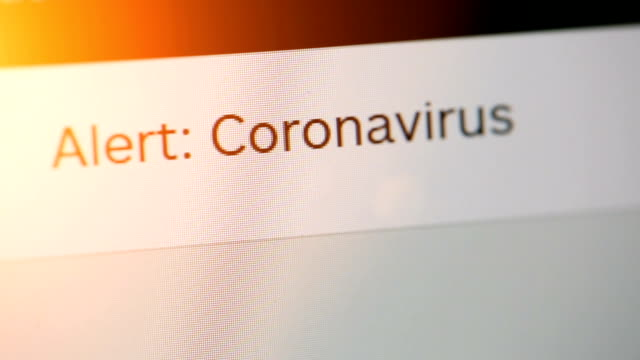 typing on adress or search bar of a web browser alert coronavirus - web browser stock videos & royalty-free footage