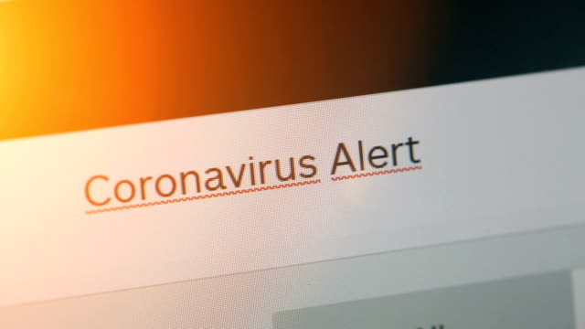 typing on adress or search bar of a web browser coronavirus alert - web browser stock videos & royalty-free footage