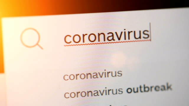 typing on adress or search bar of a web browser coronavirus - web browser stock videos & royalty-free footage