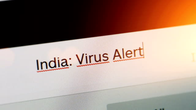 typing on adress or search bar of a web browser india virus alert - web browser stock videos & royalty-free footage