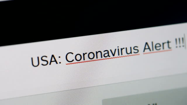 typing on adress or search bar of a web browser usa coronavirus alert - web browser stock videos & royalty-free footage