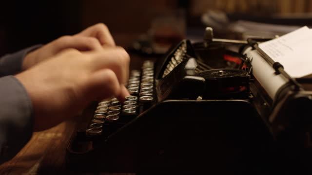 ds typing on an old typewriter - typewriter stock videos & royalty-free footage