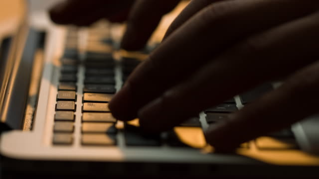 typing on keyboard - hacker stock videos and b-roll footage