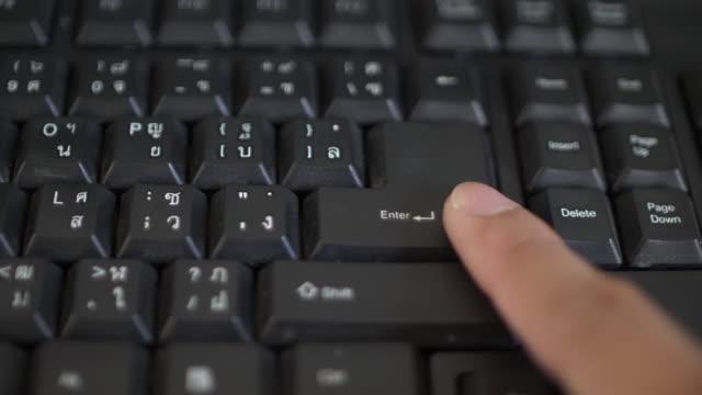 SLO MO Typing on keyboard