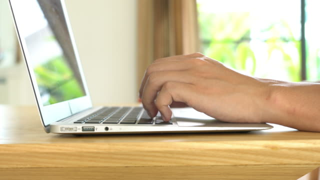 typing on laptop keyboard - input device stock videos & royalty-free footage
