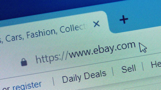 typing the ebay's url on web browser. - web browser stock videos & royalty-free footage