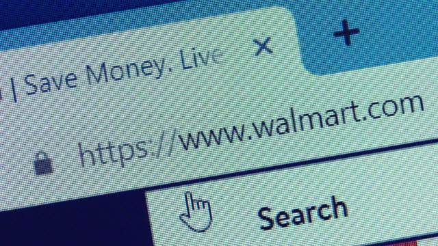 typing the walmart's url on web browser. - web browser stock videos & royalty-free footage