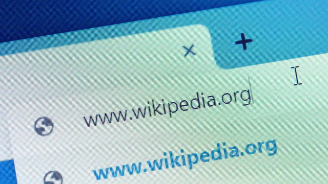 typing the wikipedia's url on web browser. - web browser stock videos & royalty-free footage