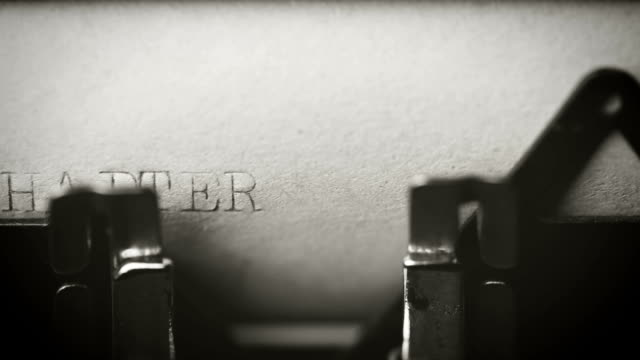 chapter 1: typing with an old typewriter - number 1 stock videos & royalty-free footage