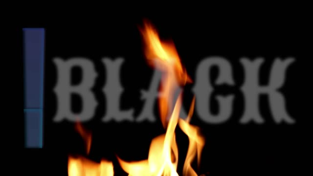Typography : Black Friday advertisement text banner animation on to burning flames