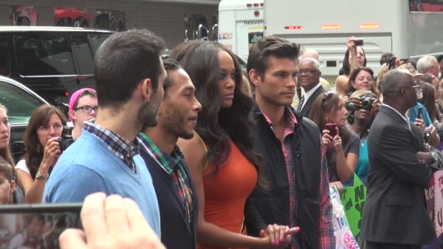 Tyra Banks and contestants from 'America's Next Top Model' at the 'Good Morning America' studio in New York NY on 8/1/13
