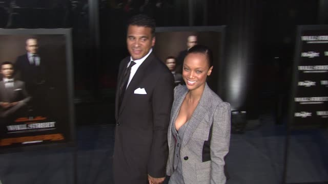 Tyra Banks and guest at the 'Wall Street Money Never Sleeps' New York Premiere at New York NY
