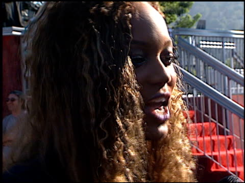 Tyra Banks at the 1998 MTV Video Music Awards entrances at Universal Amphitheatre in Universal City California on September 10 1998