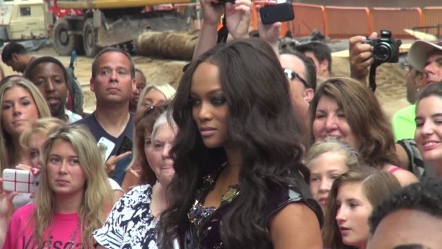 Tyra Banks at the 'Good Morning America' studio in New York NY on 8/1/13