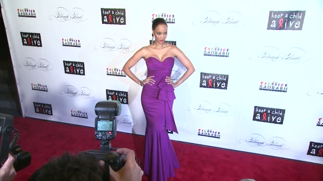 Tyra Banks at the Keep A Child Alive's 8th Annual Black Ball Red Carpet at New York NY