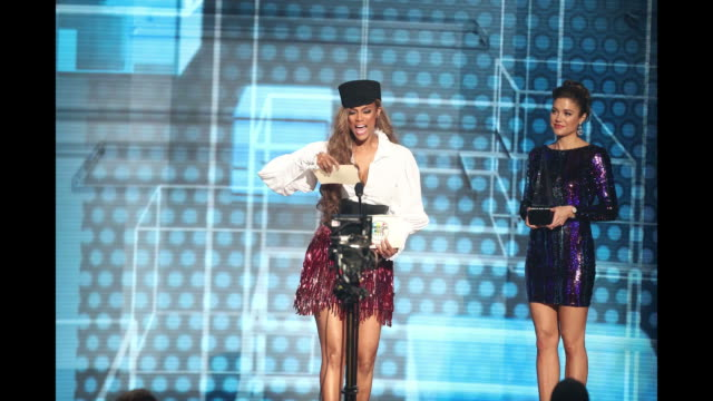 Tyra Banks speaks onstage during the 2018 American Music Awards at Microsoft Theater on October 09 2018 in Los Angeles California