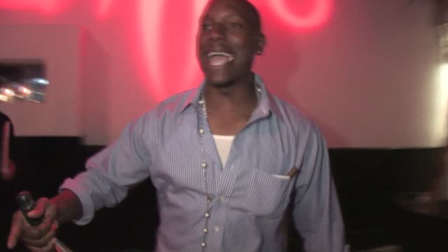 tyrese gibson at philippe of chow in west hollywood at the celebrity sightings in los angeles at los angeles ca - tyrese stock videos and b-roll footage