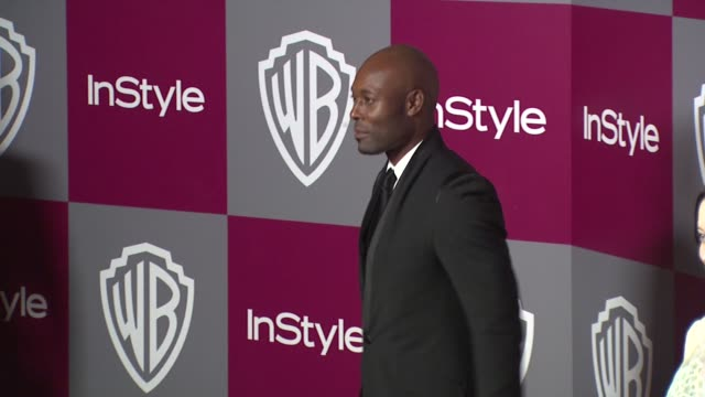 tyrese gibson at the 2011 instyle/warner brothers golden globe awards party at beverly hills ca - tyrese stock videos and b-roll footage