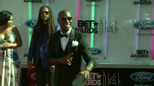 tyrese gibson at the 2014 bet awards on june 29 2014 in los angeles california - bet awards stock videos and b-roll footage