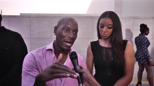 vídeos de stock, filmes e b-roll de interview tyrese gibson at the bet awards celebrities express their views on nelson mandela and his legacy at the annual bet awards in los angeles on... - tyrese