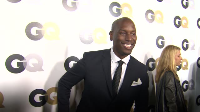 tyrese gibson at the gq's 2011 'men of the year' party at los angeles ca - tyrese stock videos and b-roll footage