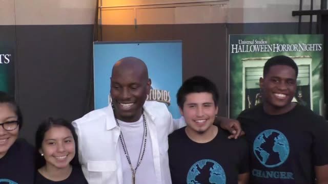 Tyrese Gibson at the opening of Halloween Horror Nights 2015 at Universal Studios Hollywood at Celebrity Sightings in Los Angeles on September 18...