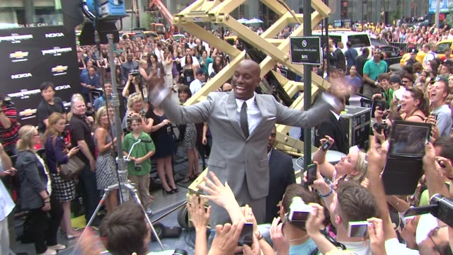 tyrese gibson at the 'transformers dark side of the moon' new york premiere at new york ny - tyrese stock videos and b-roll footage