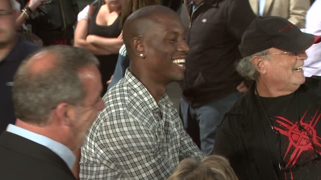 tyrese gibson at the 'xmen origins wolverine' screening at hollywood ca - tyrese stock videos & royalty-free footage