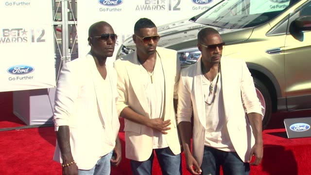 tyrese gibson ginuwine tank at 2012 bet awards on 7/1/12 in los angeles ca - tyrese stock videos and b-roll footage