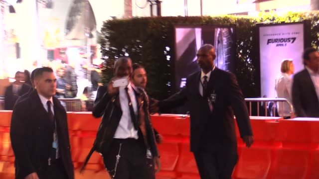 tyrese gibson greeting fans at the furious 7 premiere in hollywood in celebrity sightings in los angeles - tyrese stock videos and b-roll footage