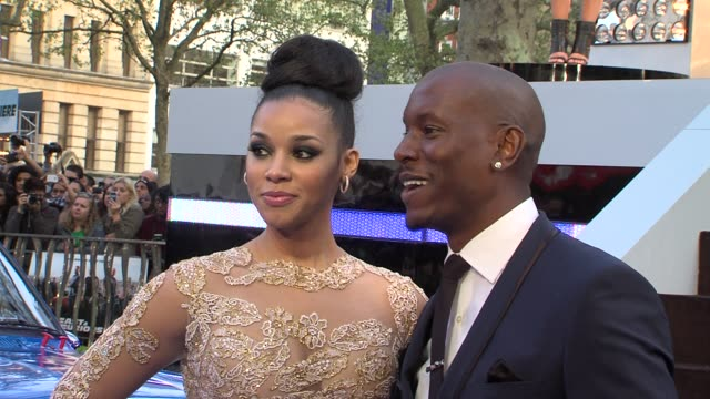 tyrese gibson lyndriette kristal smith at tyrese gibson lyndriette kristal smith at 'fast a at empire leicester square on may 07 2013 in london... - tyrese stock videos and b-roll footage
