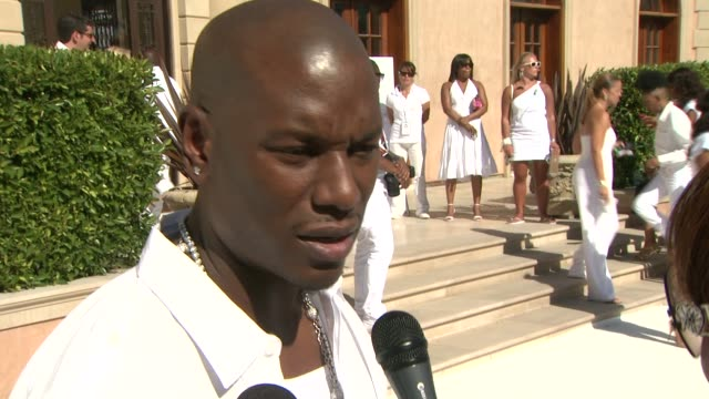 tyrese gibson on being a part of the day at the the white party at los angeles ca - tyrese stock videos and b-roll footage