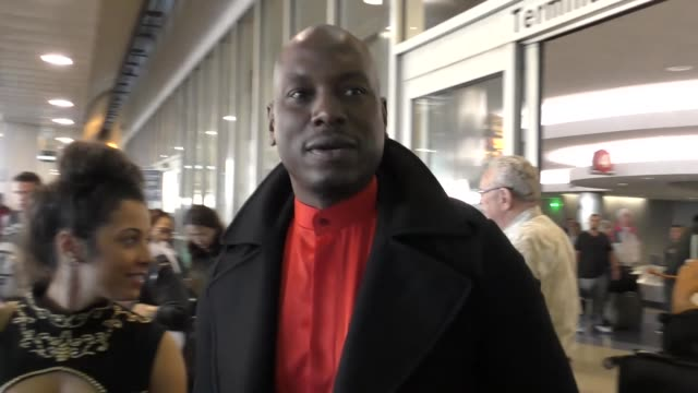 interview tyrese gibson on his documentary on fathers at los angeles international airport at celebrity sightings in los angeles on december 01 2017... - tyrese stock videos and b-roll footage