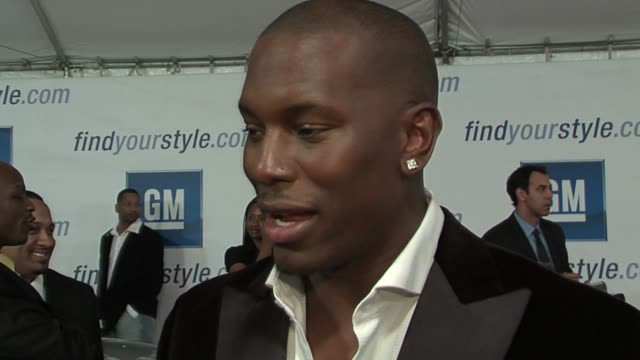 tyrese gibson on what he�s wearing in the show and modeling at the gm ten event in los angeles california on february 28 2006 - tyrese stock videos & royalty-free footage