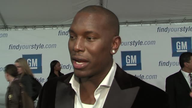 tyrese gibson on which gm cars he likes and on music and fashion at the gm ten event in los angeles california on february 28 2006 - tyrese stock videos & royalty-free footage
