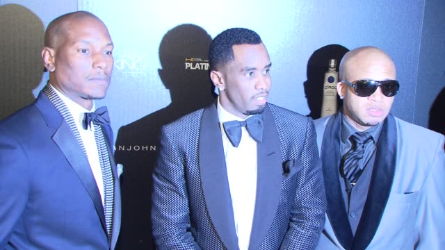 tyrese sean 'diddy' combs and guests at the ciroc vodka presents sean 'diddy' combs' birthday celebration at new york ny - tyrese stock videos and b-roll footage