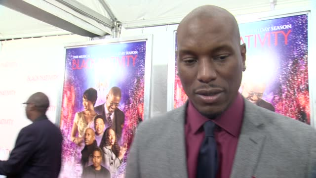 Tyrese talks about the experience of being a part of Black Nativity Reflects on film history and how he has been praying for a movie like this with...