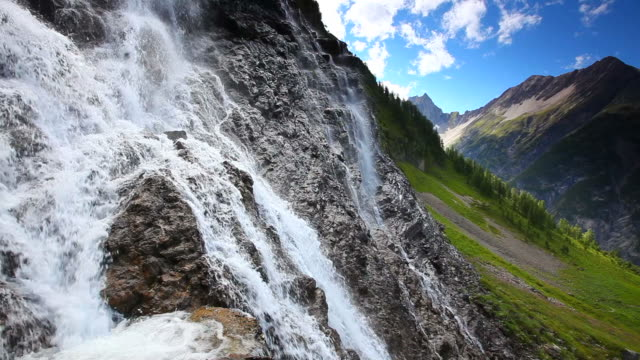 tyrolean cascade, alps, austria, tirol - austria stock videos & royalty-free footage