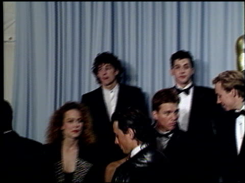 tyrone power jr at the 1989 academy awards at the shrine auditorium in los angeles, california on march 29, 1989. - 61st annual academy awards stock videos & royalty-free footage