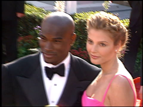 tyson beckford at the 1996 academy awards arrivals at the shrine auditorium in los angeles, california on march 25, 1996. - 第68回アカデミー賞点の映像素材/bロール