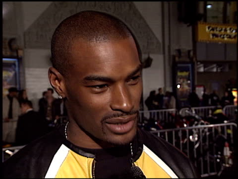 tyson beckford at the 'biker boyz' premiere at grauman's chinese theatre in hollywood, california on january 28, 2003. - tlc chinese theater bildbanksvideor och videomaterial från bakom kulisserna