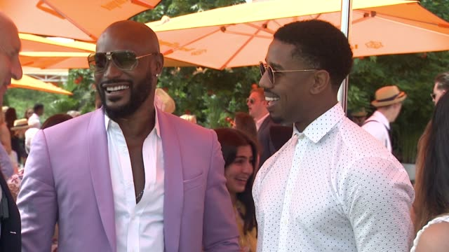 Tyson Beckford Michael B Jordan at NinthAnnual Veuve Clicquot Polo Classic at Liberty State Park on June 4 2016 in Jersey City New Jersey