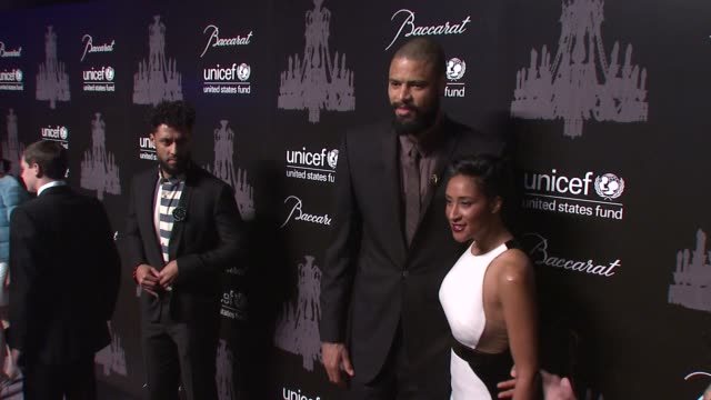 tyson chandler and kimberly chandler at the ninth annual unicef snowflake ball at cipriani, wall street on in new york city. - cipriani manhattan stock videos & royalty-free footage
