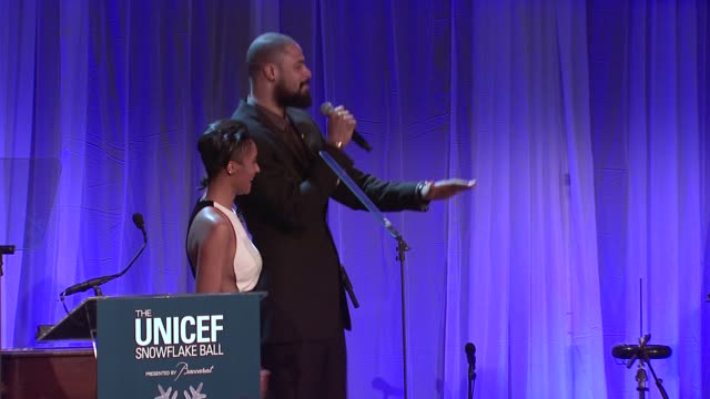 tyson chandler and kimberly chandler hosts auction at the ninth annual unicef snowflake ball at cipriani, wall street on in new york city. - cipriani manhattan stock videos & royalty-free footage