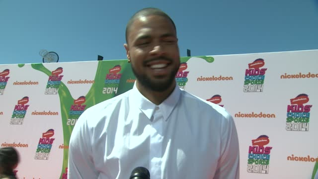 vídeos de stock e filmes b-roll de tyson chandler nickelodeon kids' choice sports awards 2014 at pauley pavilion on july 17 2014 in los angeles california - nickelodeon
