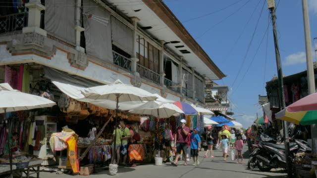 ubud traditional art market,ubud,bali,indonesia - indonesia street stock videos & royalty-free footage